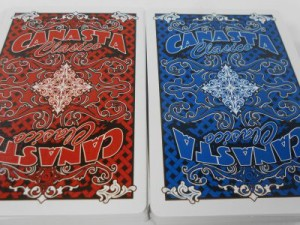 Red and Blue Canasta Card Backs